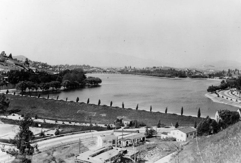 The Silver Lake Reservoir c. 1935 (Image Source: LAPL)