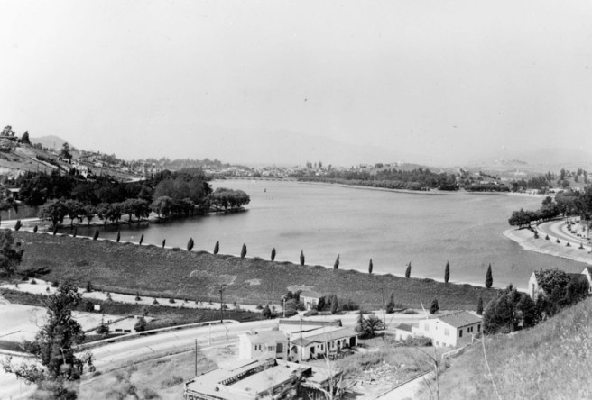 The Silver Lake Reservoir c. 1935 (Image Source: LAPL)