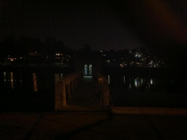 Silver Lake South Outlet Chlorination Station at night -- future Airbnb rental?