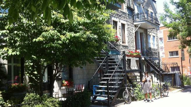 The famous stairs of Montreal