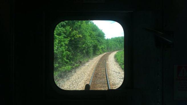 Looking behind Adirondack Line's no. 69 (train erotique)