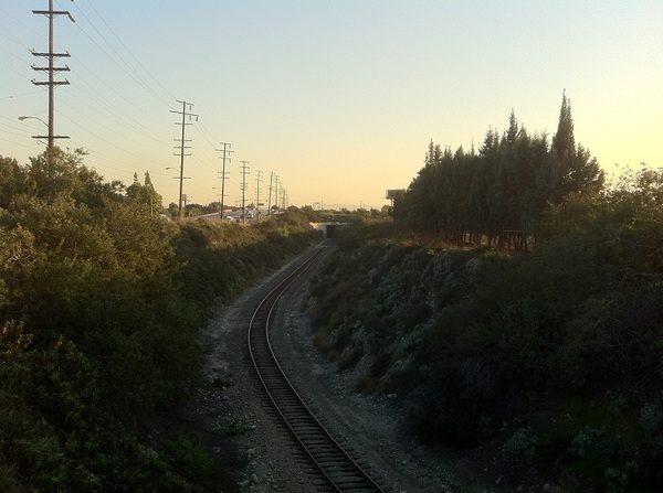 Looking south toward future site of Irwindale Station