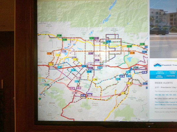 Foothill Transit map