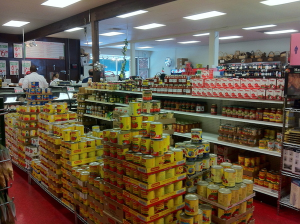 Interior of Claro's Italian Market
