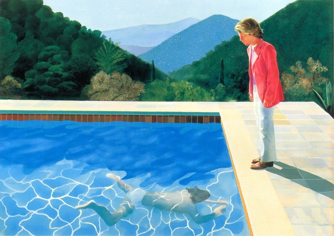 Pool with two figures, 1972, acrylic on canvas (David Hockney)