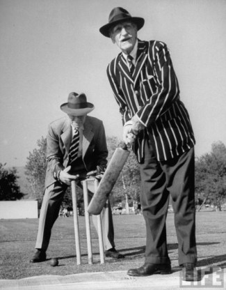 C. Aubrey Smith at bat for the HCC (Hollywood Cricket Club)