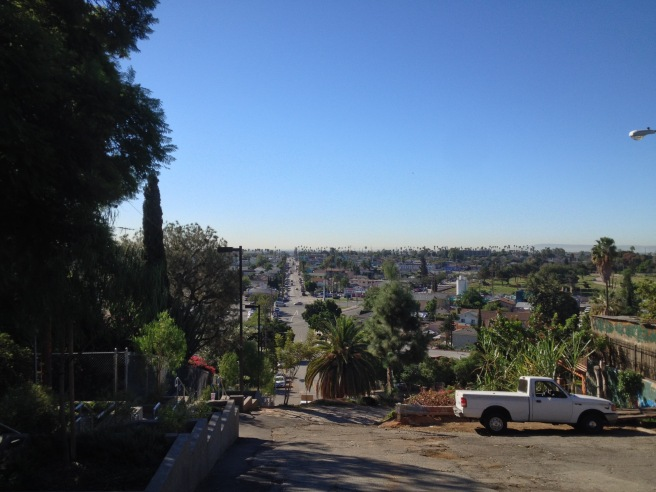 Looking down Indiana, the border between Los Angeles (Boyle Heights) and East Los Angeles