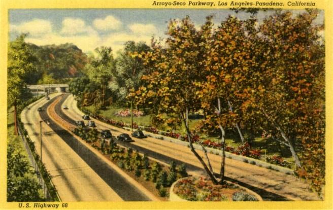 Arroyo-Seco Parkway Postcard