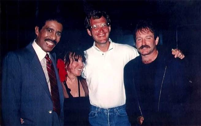 Richard-Pryor-Mitzi-Shore-co-founder-and-owner-of-The-Comedy-Store-David-Letterman-and-Robin-Williams