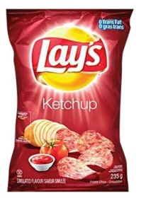 Canadian Lays Ketchup Flavour Chips