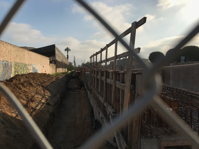 Inglewood Train Station under construction