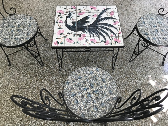 Tiled chairs