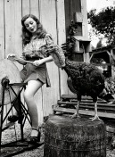 jeanne crain with turkey 1946