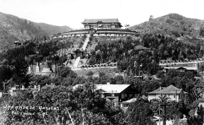 RPPC Japanese Gardens Hollywood Cal 2012.718.1.1