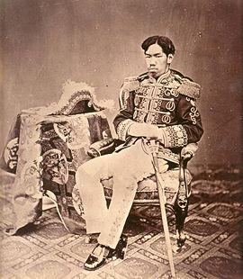 mperor Meiji, photographed by Uchida Kuichi, 1873