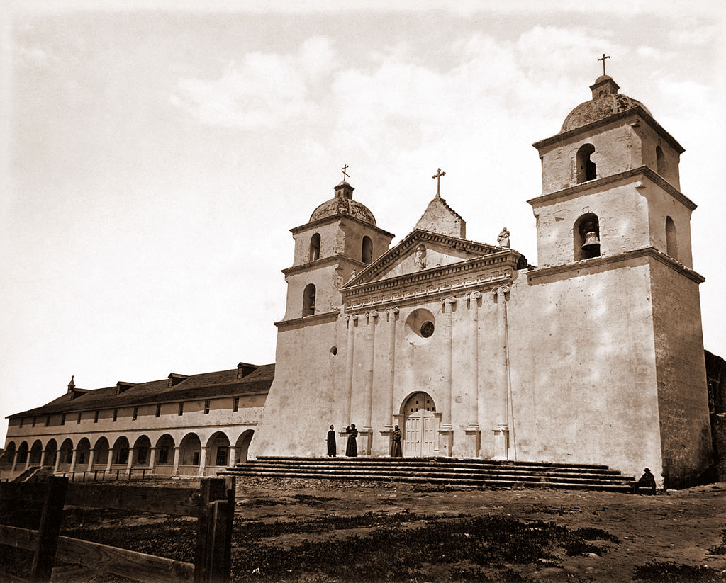 1024px-Mission_Santa_Barbara_by_Carleton_Watkins,_1876